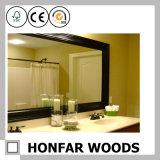 حديث سوداء حمام مرآة إطار خشب إطار