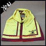 Bufanda de seda de la impresión de encargo de la insignia con el rectángulo del sobre