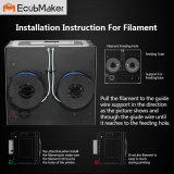 """Ecubmaker Doppeldüse, 8.8 """" X5.7 """" X5.9 """" Drucker des Bau-Datenträger-3D mit ABS oder Winkel- des Leistungshebelsheizfaden"""