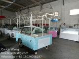 Congeladores italianos da bicicleta do Showcase dos troles dos carros de Gelato/gelado/gelado (CE)