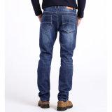 Mens gerader blauer Jean keucht Form-Denim-Jeans