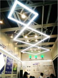 A luz linear do escritório do diodo emissor de luz de Zigbee com coneta livremente a iluminação comercial 1.2m 45W 6000lm