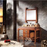 Modern Bathroom Sanitary Ware Cabinet with Mirror (GSP14-017)