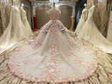 新しい到着2017の多色刷りの結婚のピンクの灰色のウェディングドレス