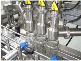 Type linéaire machine d'eau embouteillée d'animal familier avec la machine à étiquettes recouvrante remplissante de lavage