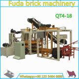 Prix de pavage concret automatique hydraulique de machine de fabrication de brique Qt4-18
