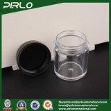 10g 0.33oz löschen gerades seitliches Plastikglas mit schwarzer Kappe