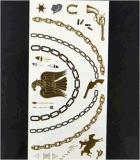 Autoadesivo impermeabile provvisorio del tatuaggio di modo metallico
