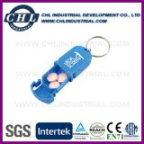 캡슐 Keychain를 가진 모양에 의하여 주문을 받아서 만들어지는 로고 플라스틱 환약 상자
