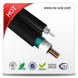 8 코어는 각자 지원한다 G652D 기갑 커뮤니케이션 공중 광섬유 케이블 (GYXTC8S)를