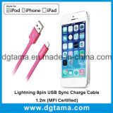 Пинк кабеля 1.2m обязанности Sync USB молнии 8pin (аттестованное MFI) -