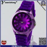 Reloj encantador del silicón del reloj del cuarzo de los relojes de las mujeres de lujo Yxl-268 de la correa del color analogico de la jalea