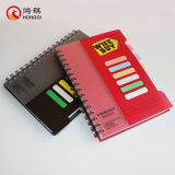 Cuaderno espiral rojo de la cubierta de los PP