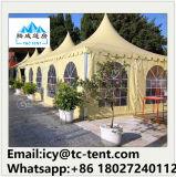 Kundenspezifisches faltendes überzogenes Hochzeitsfest-Förderung-Pagode-Zelt mit Fenstertür für Verkauf