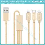 3 em 1 cabo de dados cobrando rápido do USB para a tabuleta/Android/iPhone6