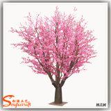 Árvore artificial barata da flor do pêssego do preço de fábrica