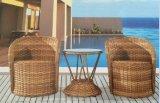 Rattan 2-Chairs e Tabella Furniture-1 esterno del rattan
