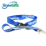 Acollador impreso promocional de encargo de la cinta del cuello del poliester para el regalo