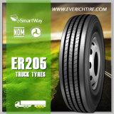 carro chino del neumático del acoplado 255/70r22.5 y neumáticos baratos del neumático TBR del omnibus con el alcance de Smartway