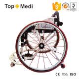 Sillón de ruedas manual Handicapped del deporte del baloncesto de la velocidad del aluminio de gama alta