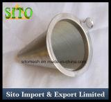 Filtro de café perfurado do engranzamento do aço inoxidável