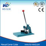 Machine de découpage manuelle de Cutte Rpaper de coin rond (WD-30)