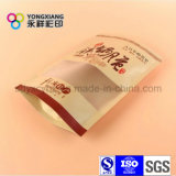 Größe kundenspezifischer Packpapier-Fastfood- Beutel mit Reißverschluss für Meeresfrüchte
