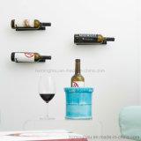Cremalheira fixada na parede do frasco de vinho do indicador do armazenamento do frasco DIY de Singel