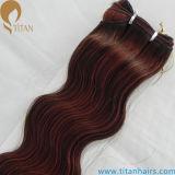 Trame synthétique de cheveu de résistance à la chaleur de Kanekalon de fabrication