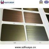 Panneau décoratif enduit d'acier inoxydable de bronze en laiton de cuivre