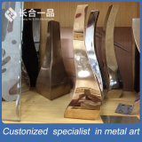 Fabrik-Fertigung-Vierecks-Edelstahl-Silber-Tee-Tisch-Ausgangsmöbel