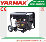 Type ouvert OIN électrique diesel de Yarmax de la CE de générateur monophasé 12kVA 12kw Genset