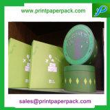 ロゴの印刷を用いるカスタム新しいデザイン丸型のボール紙のギフトの紙箱の宝石箱