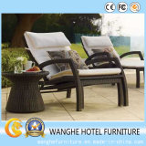 Hotel Wicker Furniture Chaise Lounge para exterior