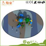 Das crianças superiores do tipo do vaqueiro equipamento ao ar livre plástico do campo de jogos com solução de uma paragem