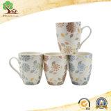 tazza di caffè di ceramica di stampa popolare 11oz con il disegno sveglio del fiore nella fabbrica del Hunan
