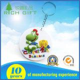preço de fábrica macio do PVC Keychain dos desenhos animados 3D disponível