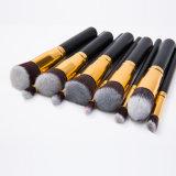 10PCS brosse de lecture cosmétique d'Alumunium de couleur d'or d'OEM Faical à vendre
