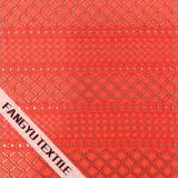 幾何学的なしまのある綿のナイロンレースファブリック