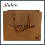 El regalo de empaquetado de las compras de las ventas al por mayor de encargo imprimió la bolsa de papel de Kraft