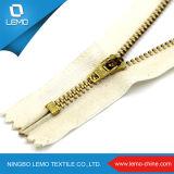 Zipper suíço de separação em dois sentidos do metal do ouro do Zipper grande