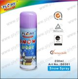 Spray de nieve para fiestas no inflexible