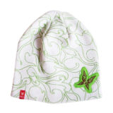 Hat de señora hermosa de Knitted con la mariposa (JRK146)