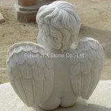 Estátuas brancas do anjo do bebê do mármore branco