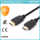 1.4V cable plateado oro de alta velocidad del Varón-Varón HDMI del enchufe 1080P