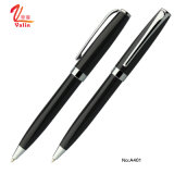 Bolígrafo promocional del negro de la pluma del asunto del nuevo metal de la llegada para la oficina