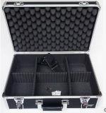 La caja de herramientas de aluminio de gama alta de encargo de la aleación de aluminio de la maleta se puede ajustar con el rectángulo del instrumento