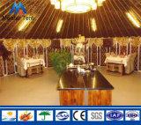 Tente mongole de Yurt de toile imperméable à l'eau de qualité
