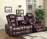 Sofa de Recliner d'accoudoir avec le sofa de fonction de Tableau de thé (UL-NS047)