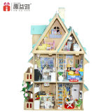 2017 새로운 디자인 나무로 되는 작은 인형 집 장난감